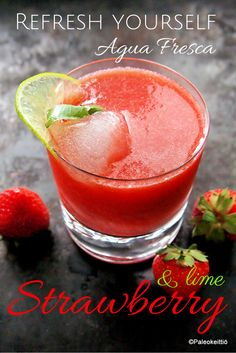 Raikas kesäjuoma – Strawberry Agua Fresca | paleokeittio.fi