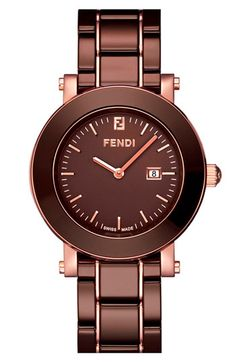 Fendi large ceramic round case watch   (1,395.00)  Another dream gift/purchase.. love the color!