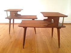 Mid Century Side Tables Solid Wood; Mid Century Modern End Table; Danish Modern…