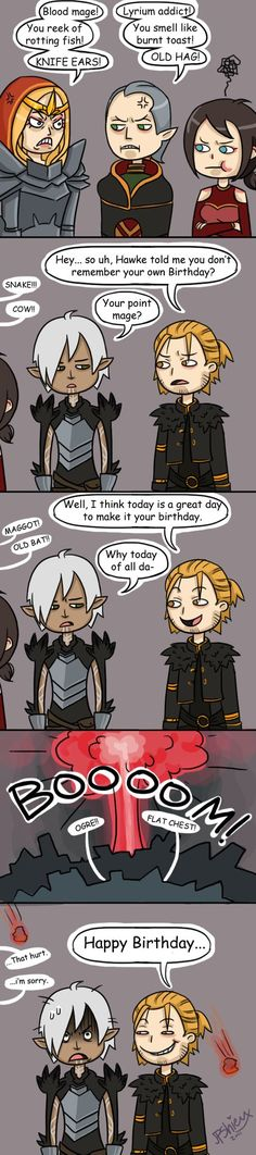 Before Cassandra had Varric dragged into the make shift interrogation room, she had already interviewed several shady characters.... ... none of them provided any leads that could be followed. Last...
