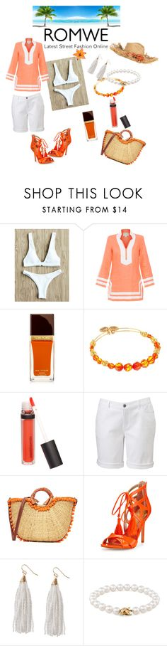 """""""Orange and White Style"""" by loveoffashion2 ❤ liked on Polyvore featuring Sail to Sable, Tom Ford, Alex and Ani, Bare Escentuals, Simply Vera, Sam Edelman, Humble Chic, Tiffany & Co. and CKK Home Decor"""