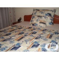 Kék virágos 3 részes pamut-szatén ágyneműhuzat Paplan, Quilts, Blanket, Home, Quilt Sets, Ad Home, Blankets, Homes, Log Cabin Quilts