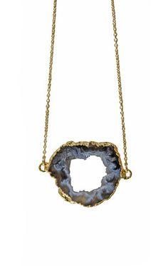 sideways AGATE geode   kei jewelry