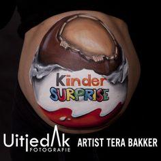 Bellypaint buikschildering Kindersurprise ei Tera Bakker