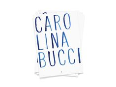 Construct — Carolina Bucci