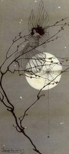 Elizabeth Mary Watt (Scottish, 1886 - 1954) Moonlit fairies 1912 ~☆~