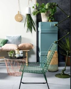 """This green iron chair is from our feature """"Colour Codes"""""""
