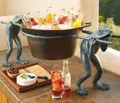Our Hand-painted Frog Beverage Tub will definitely be the talk of your next get-together