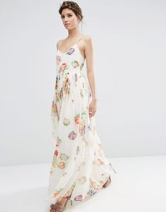 floral bridesmaid dress for a boho wedding