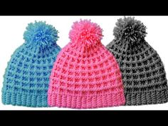 Easy Crochet Beanie Featured Image - This free video tutorial covers how to create an easy crochet beanie. Crocheting beanie hats are so much fun to make and easy for beginners to stitch! Crochet Flower Squares, Crochet Triangle, Crochet Round, Crochet Flowers, Crochet Baby Hat Patterns, Crochet Baby Hats, Crochet Dolls, Doll Patterns, Crochet Beanie Hat