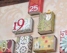 Streichholzschachteln mit Scrapbooking Papier dekorieren