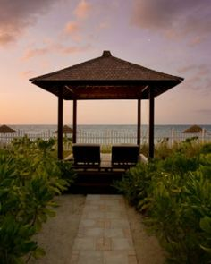 Near the beach, guests can enjoy private cabanas where attendants are always on hand. #Jetsetter #JSHoneymoon