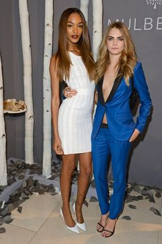 Jourdan Dunn and Cara Delevingne - Mulberry London Fashion Week Dinner