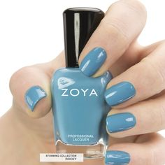 Here's your first look at Zoya #NailPolish in Rocky - a full-coverage serene blue cream. #summer #zoyastunning #zoya #blue