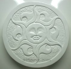 Sun Stepping Stone Plaster Mold 11-1/2 Inch Diameter. Here are some Plaster Molds we carry at Artcove.com. Fun, easy to make and affordable. Mix and pour plaster of paris, let harden and paint with acrylic paints.