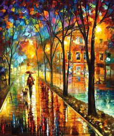 Decoración colorida  paseo con mi mejor amiga  por AfremovArtStudio