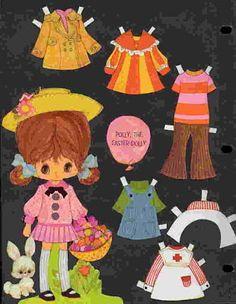 Ephemera: Vintage Paper Doll Greeting Cards - The Vintage Village