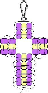 beading - cross graph