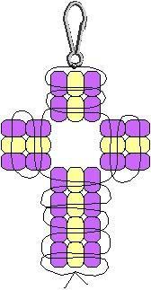 beading - cross graph
