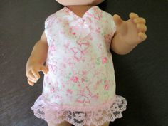 """12"""" Baby Alive Clothes Pink Butterfly Lace Trim Dress Quilt Lined Diaper 2 PC 