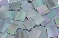 Gray Iridescent Stained Glass Mosaic Tiles