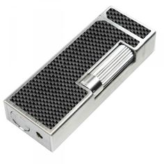 Rollagas carbon fibre lighter by dunhill with palladium trims