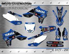 Yamaha YZf 450 '10-'13 graphics decals kits Yamaha Yzf, Custom Design, Decals, Graphics, Motorbikes, Tags, Graphic Design, Sticker, Decal
