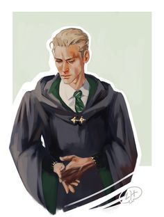 Draco Malfoy - the way I picture him after he acquired the dark mark. By Za-ra-h
