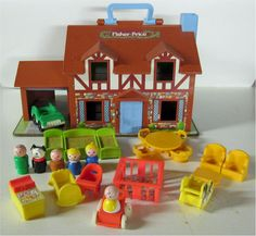 Fisher Price little people house - my brother and I could play for hours with this thing!