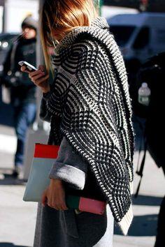 As mantas são tendências absolutas da moda inverno 2017