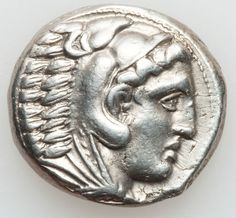 MACEDONIAN KINGDOM. Alexander III the Great (336-323 BC). AR tetradrachm (17.21 gm). Early posthumous issue of Amphipolis, 323-320 BC. Head of Heracles right wearing lion skin headdress / Zeus enthroned left holding eagle and scepter, monogram in field before.