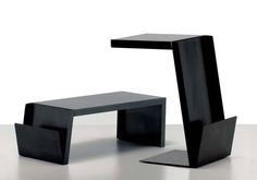 Side table / contemporary / with magazine rack IRONMAG by Franco Raggi ZEUS