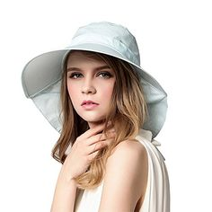 b12e1b2bb8a Women s Cycling Caps - Aiyuda Womens Sun Hat with Neck Flap Driving UPF 50  Quick Dry Summer Large Brim Visor Cap   Visit the image link more details.