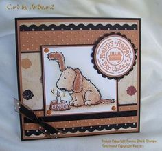 My very dotty dog card! by JoBear2 - Cards and Paper Crafts at Splitcoaststampers