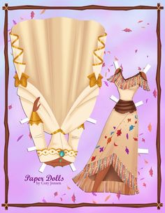 Clothes for Pocahontas paper doll