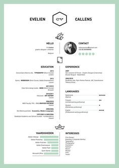 30 Best Resumes For Creative Fields Images On Pinterest In
