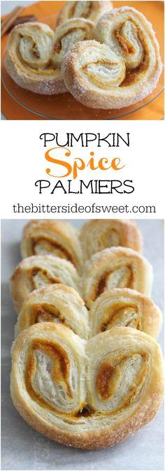 Pumpkin Spice Palmiers   The Bitter Side of Sweet