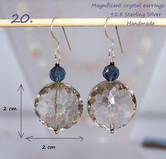 925 Sterling Silver Grey Crystal earrings http://stores.ebay.ie/SilverTrend4U?_rdc=1