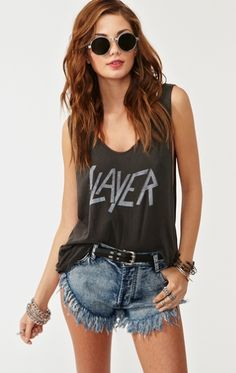 Chaser Faded Black Slayer Tank