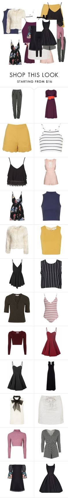 """Untitled #3749"" by luciana-boneca on Polyvore featuring Glamorous, Lattori, Topshop and Lipsy"
