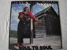 STEVIE RAY VAUGHAN AND DOUBLE TROUBLE, SOUL TO SOUL, VINYL LP 1985 EPIC RECORDS  #BluesRockFolkCountryRockGarageRockRocknRollRockabillyPsychobilly