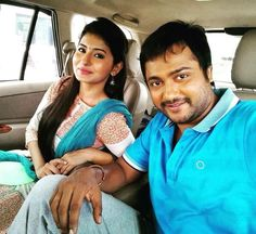 """Kollywood""""s latest pair Happening Star Simha and Reshmi Menon...Best wishes..."""