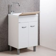 Eko - Mobile lavatoio con lavabo in ABS metacrilato PROFONDITA\' cm ...
