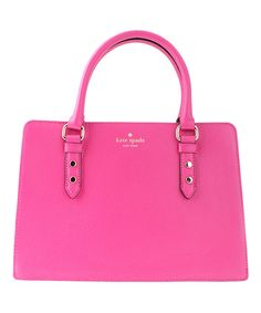 Too bad it's real leather...Another great find on #zulily! Kate Spade Sweetheart Pink Leather Mulberry Street Lise Satchel by Kate Spade #zulilyfinds