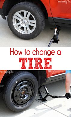 How to change a flat tire.  Definitely something to practice before it happens on the road.