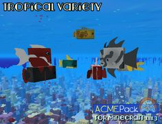 Honestly the tropical fish are a technical nightmare, but it worked out well after... some fussing with the awkward texture layouts.  Mojang would have been much better off choosing a dozen or two fish and making specific textures for those. The mix and match wizardry does not particularly impress.  Even so, everything turned out just fine. Buried Treasure, Treasure Maps, Hippocampus Seahorse, Fish Varieties, Map Marker, Tropical Fish Tanks, Two Fish, Types Of Fish, Minecraft 1