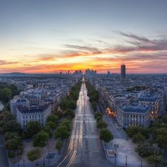 Sunset in Paris Aerial View #iPad #Wallpaper HD