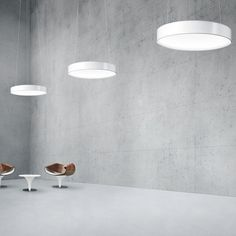 Recessed ceiling light fixture / surface-mounted / hanging / fluorescent ONDARIA by Stefan Ambrozus ZUMTOBEL