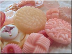 "vintage pink buttons - photo by Stephanie Butler of the blog ""Sunshine n Ravioli"" http://sunshinenravioli.blogspot.com/"