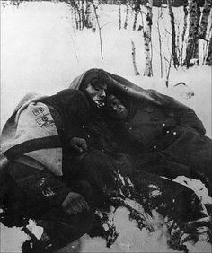 Frozen alive - German`s at Stalingrad